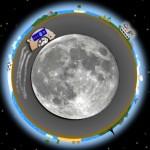 Orbiting underground moonbase