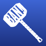 An example of an icon for the Banhammer achievement