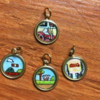 Retro Micro Art Pendants