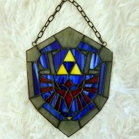Stained Glass Hylian Shield