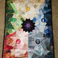 MtG Inspired Lotus Quilt
