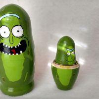 Pickle Rick Nesting Dolls