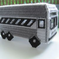 Desert Bus in Plastic Canvas