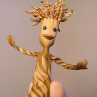 Leather Groot Finger Puppet