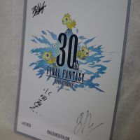 Final Fantasy 30th Anniversary Concert Poster, signed #2