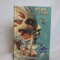 Attack on Titan Anthology hardcover graphic novels, signed #1
