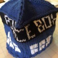 Knitted Tardis Hat