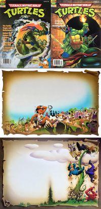 TMNT Magazine Fairy Tale Original Artwork by Ken (Value Added) Steacy! B^)